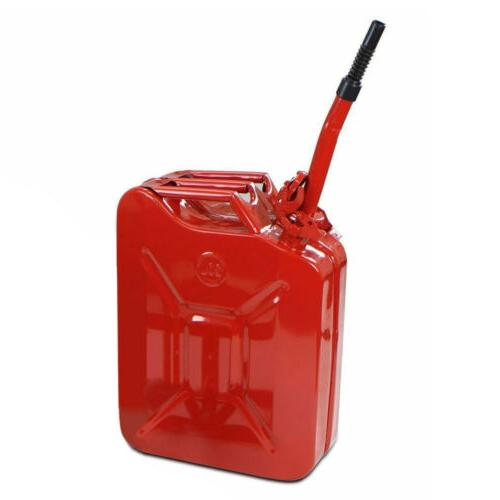 5 Gallon Gas Metal Jerry Gasoline Container Tank Emergency 20 L