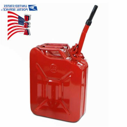 5 gallon gas can metal jerry gasoline
