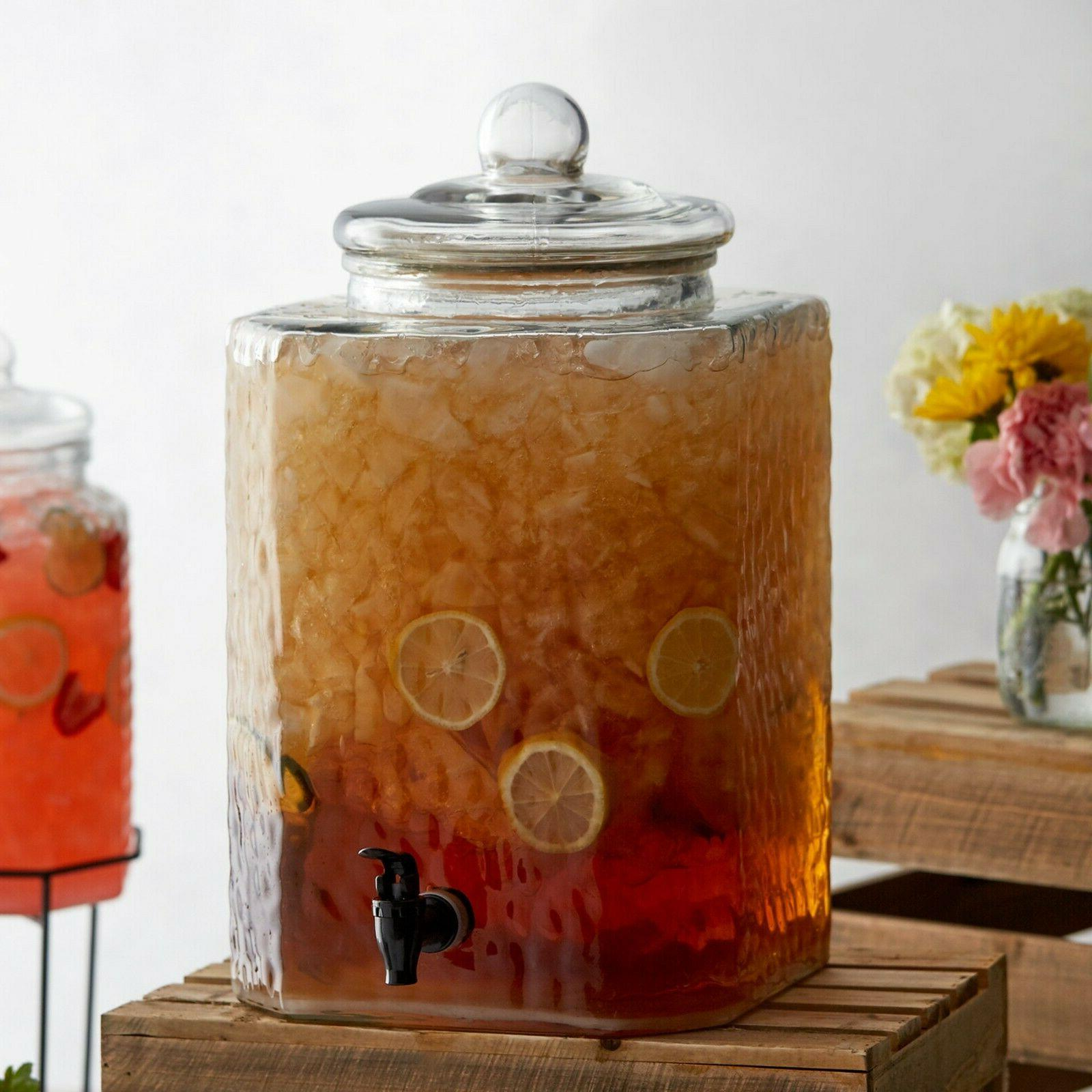 5 Glass Beverage Tea Jar