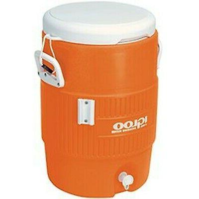 Igloo 5-Gallon Heavy-Duty Beverage Cooler, Orange & Ultimate