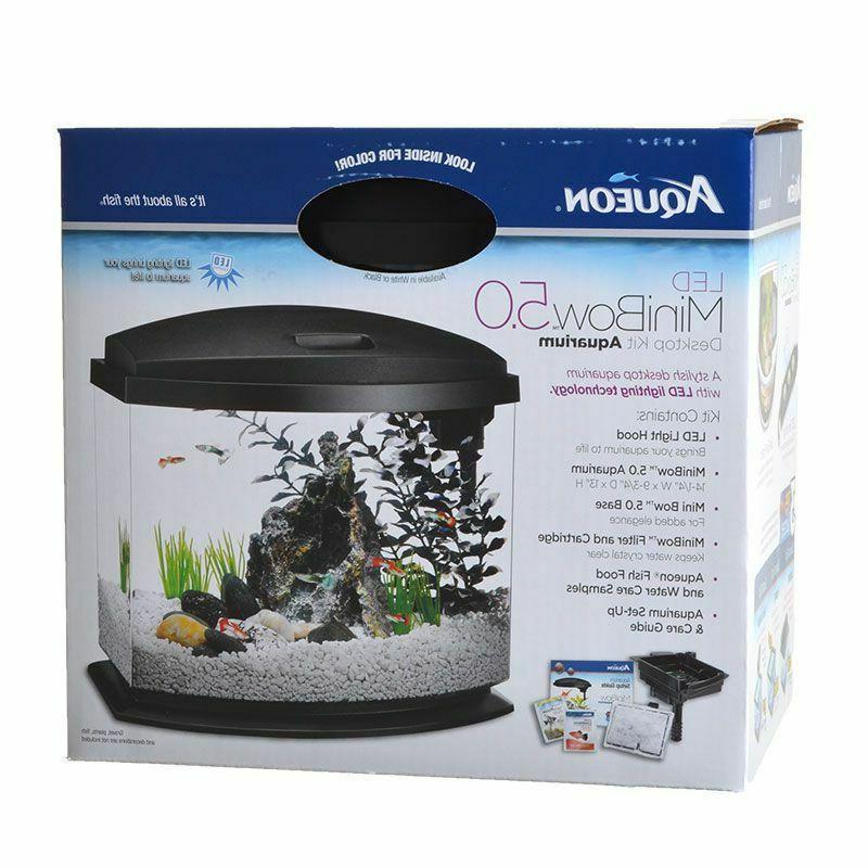 led mini bow black desktop aquarium kit