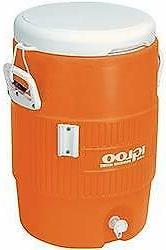 5 gallon orange cooler w seat lid