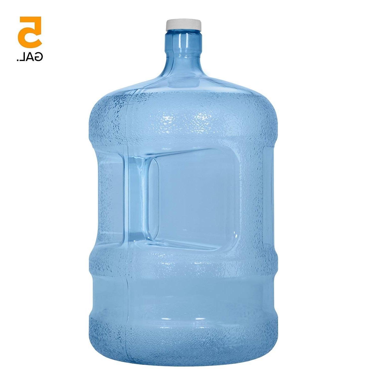 5 gallon pvc plastic reusable water bottle