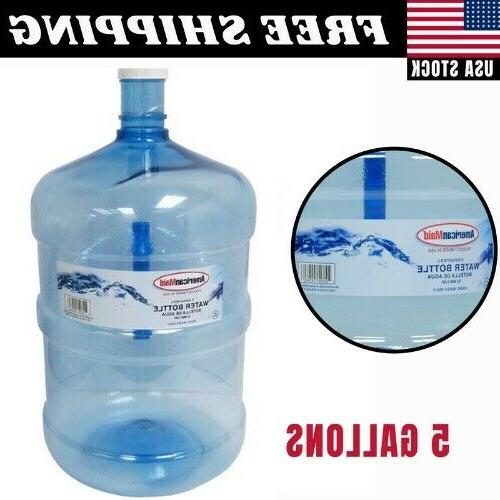 5 gallon reusable bottle water large container