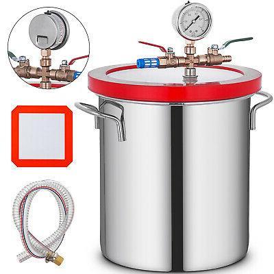 5 gallon vacuum chamber stage pump degassing
