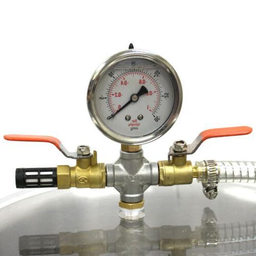 5 Steel Vacuum Degassing Chamber Kit Hose