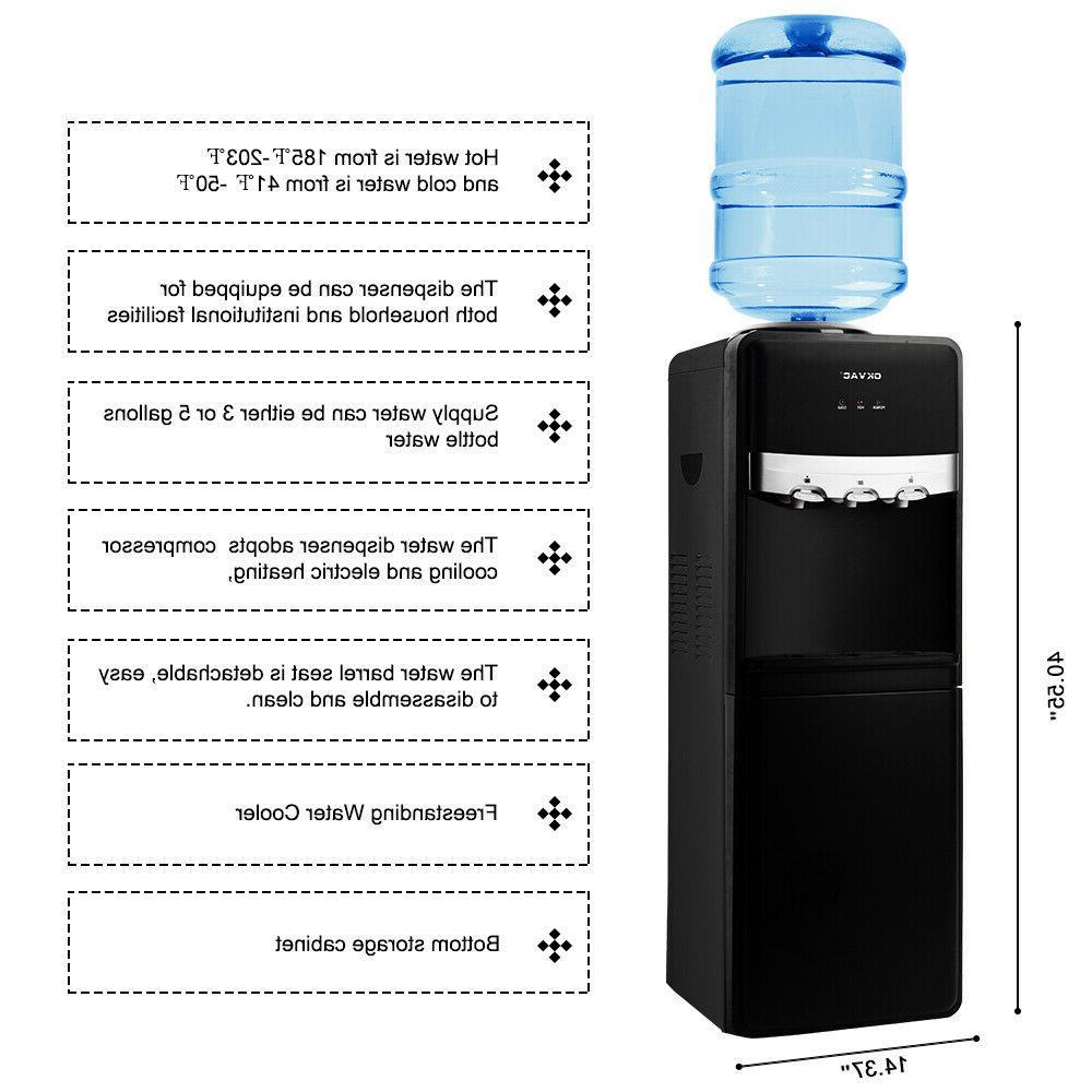 5 Gallon Stainless Steel Cooler Dispenser Cold Office