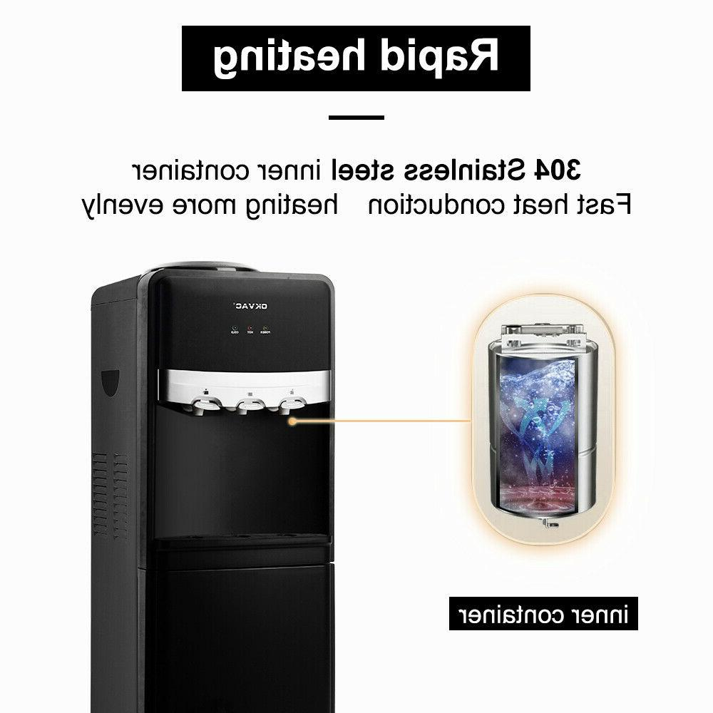 5 Gallon Stainless Cooler Dispenser Hot Home Office
