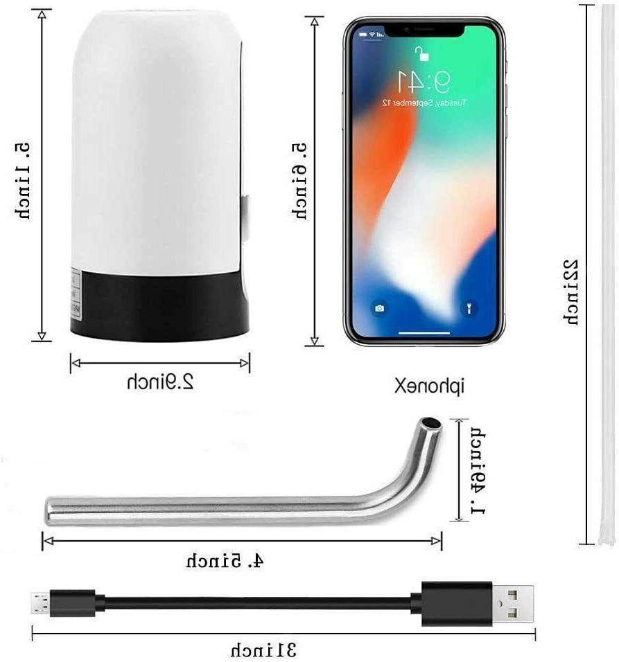 5 Gallon USB Portable Water Bottle Jug Automatic