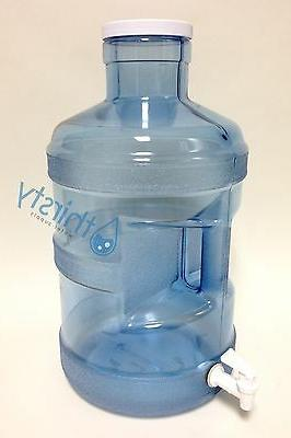 5 Gallon Big Cap Spigot Polycarbonate Plastic Dispenser