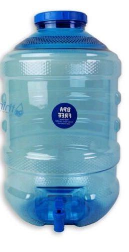 5 Gallon BPA Free Plastic Big Cap Jug Faucet