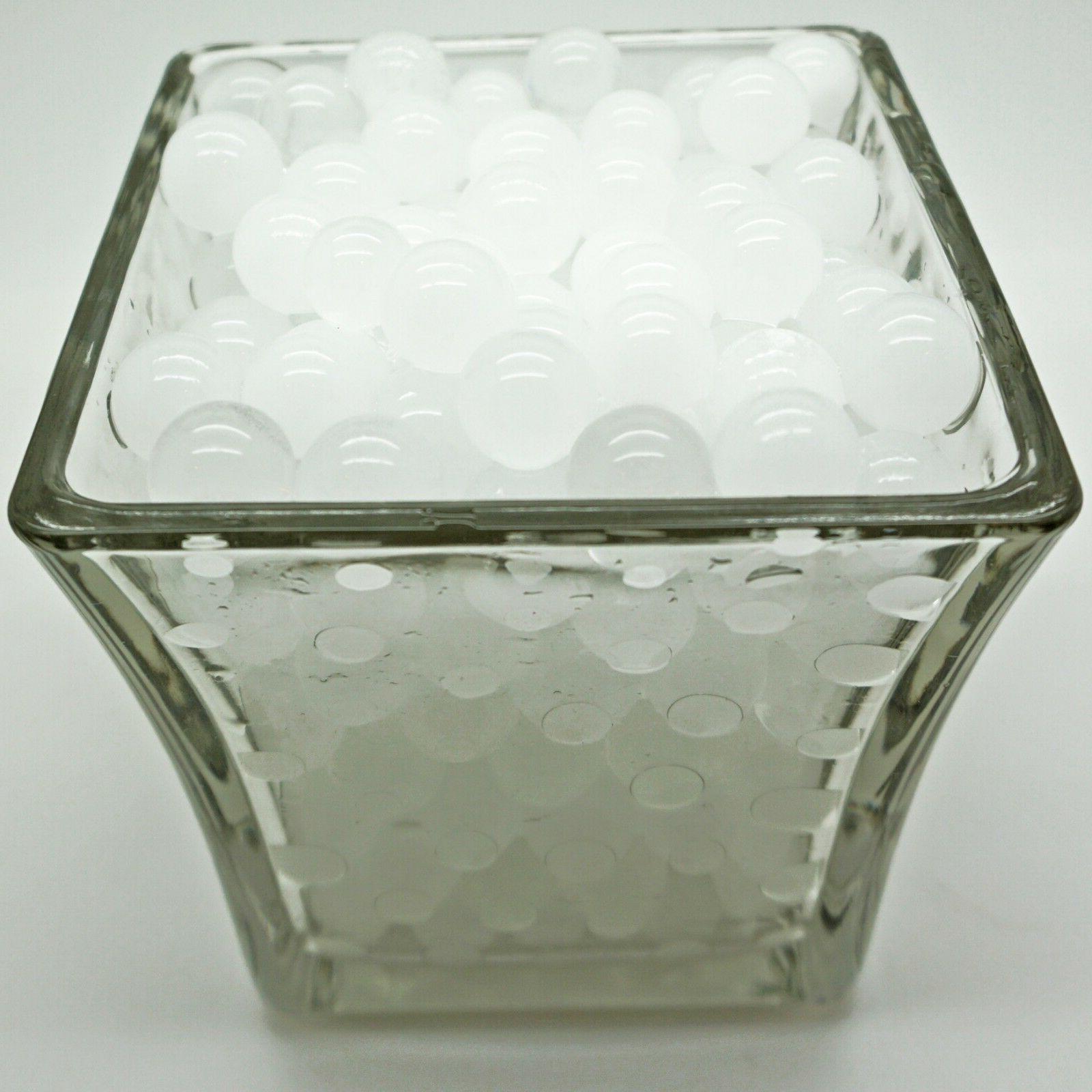 5 White Craftsprite Vase Gel Beads Ship!
