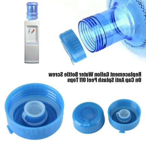 5pcs blue gallon water bottle cap drinking