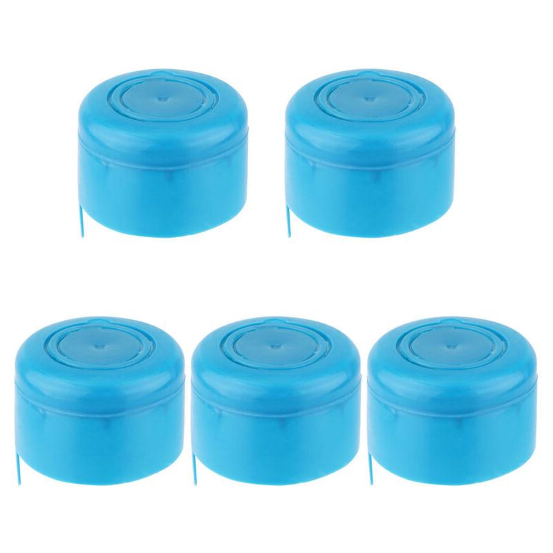 5Pc Blue Reusable Water Bottle Cap Lid for Water