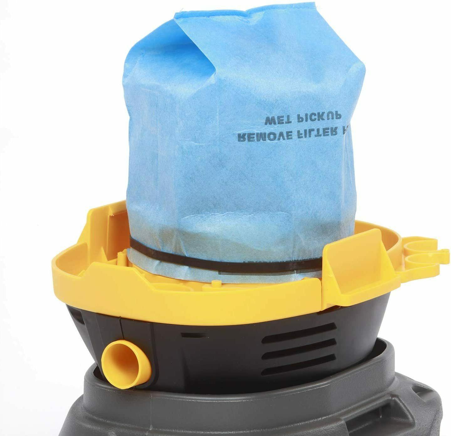 6 Vacuum Bag Filters 2.5 - Vac Wet Dry Bags
