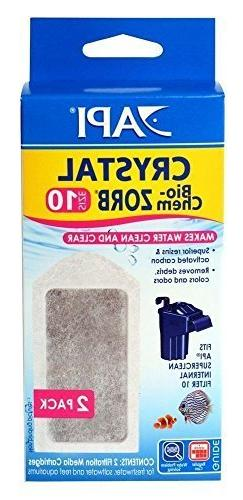 API Crystal Bio-Chem Zorb Internal Filter Cartridge 2 Pk Siz
