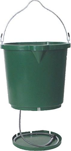 OVERSIZED HEATED FLAT-BACK BUCKET - 5 GALLON - GREEN - 1 Buc