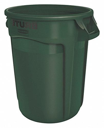Rubbermaid Commercial FG263200DGRN Products Brute Trash Can,