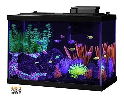 Glofish AQUARIUM KIT LED LIGHT TETRA 20 GALLON GLASS FISH TA