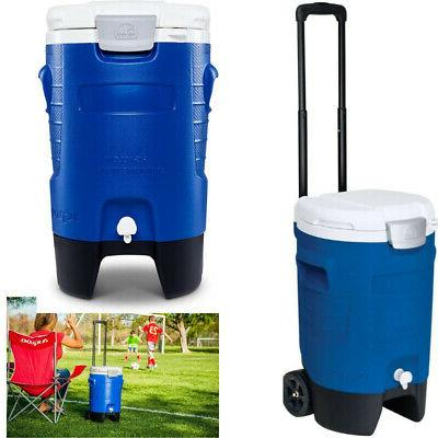 Camping Cooler Beverage Roller Ice Portable Travel Gallon