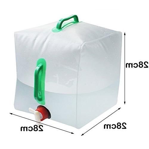 Collapsible Water - Cube Bag Food Grade PVC Water for Camping Hiking Climbing
