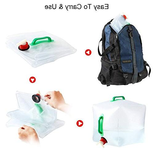 - 5 Gallon/20L Cube Bag Food Grade Water Hiking Climbing