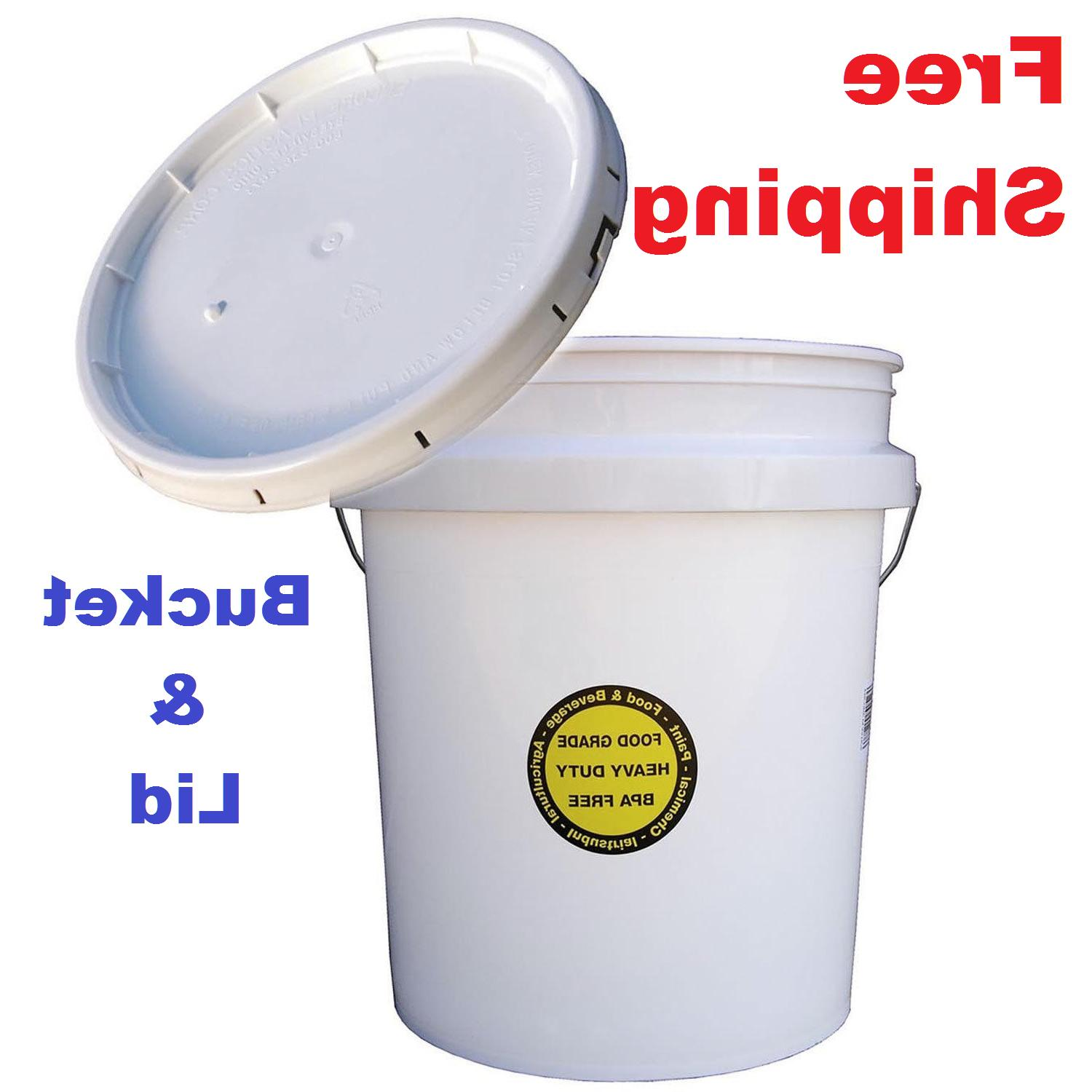commercial plastic bucket with lid 5 gallon