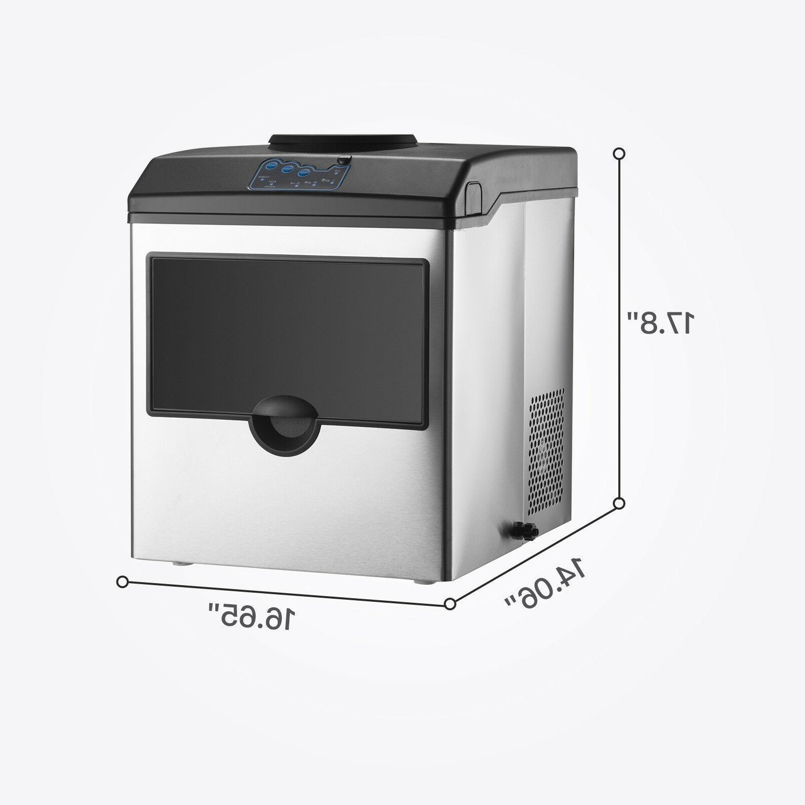 2in1 5 Water Dispenser Ice Countertop Steel