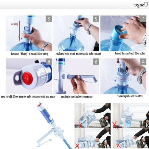 Electric Gallon Pump Bottle Drinking Stock