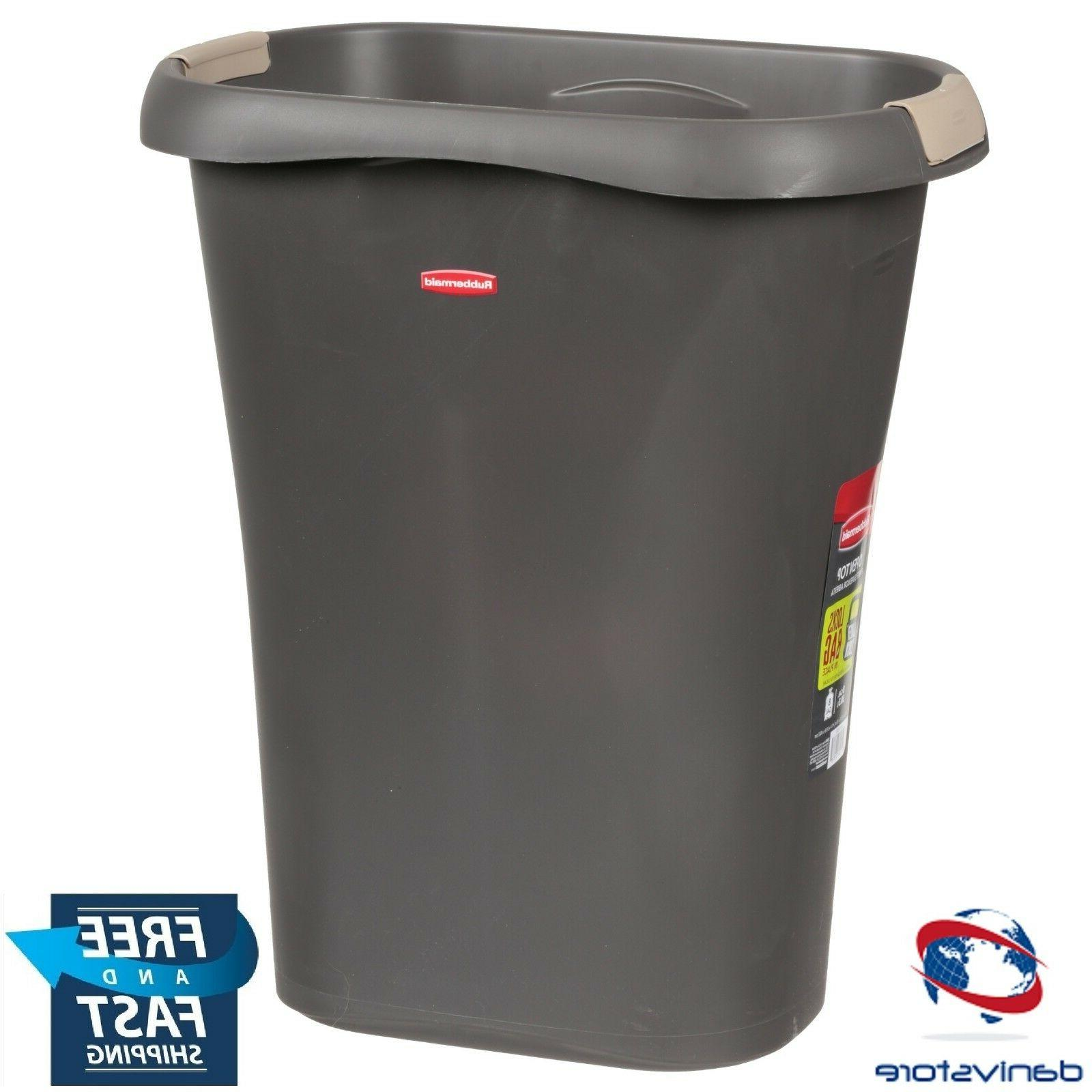 RUBBERMAID FG5L6000CSHM Large Open Wastebasket with Liner Lo