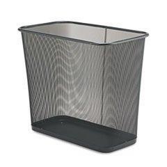 """Five-Gallon Mesh Wastebasket, Rectangular, 30 Quart, 16""""x8-1"""