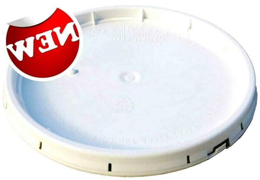 food grade 5 gallon bucket lid white