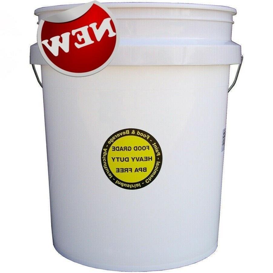 food grade commercial plastic bucket 5 gallon