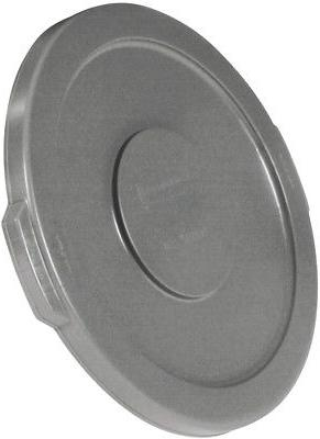 Rubbermaid Commercial Products Gray Plastic Outdoor Trash Ca