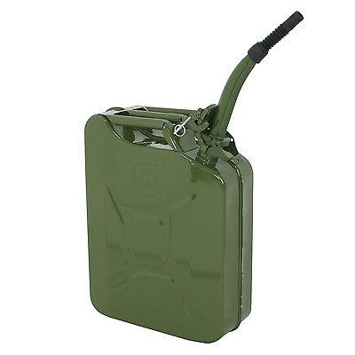 5 Gallon 20L Jerry Can Gasoline Fuel Can Steel Tank Emergenc