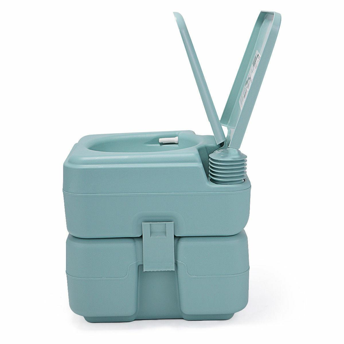 Green Toilet Camping Commode