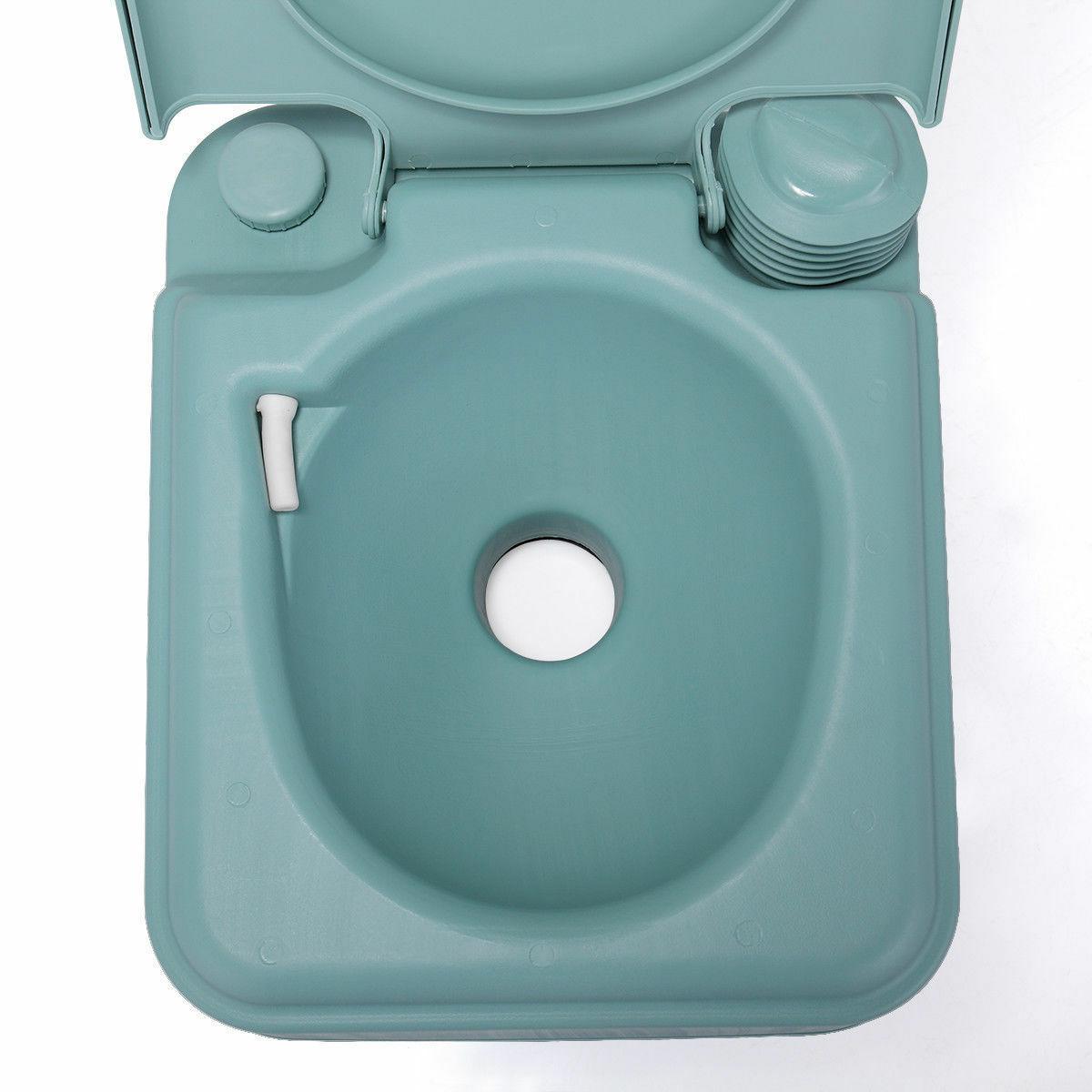 Green Toilet Flush Commode