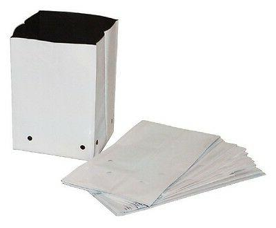 GROW BAGS White Plastic Poly 1/2/3/5/7/10/20/30 gallons 1/10