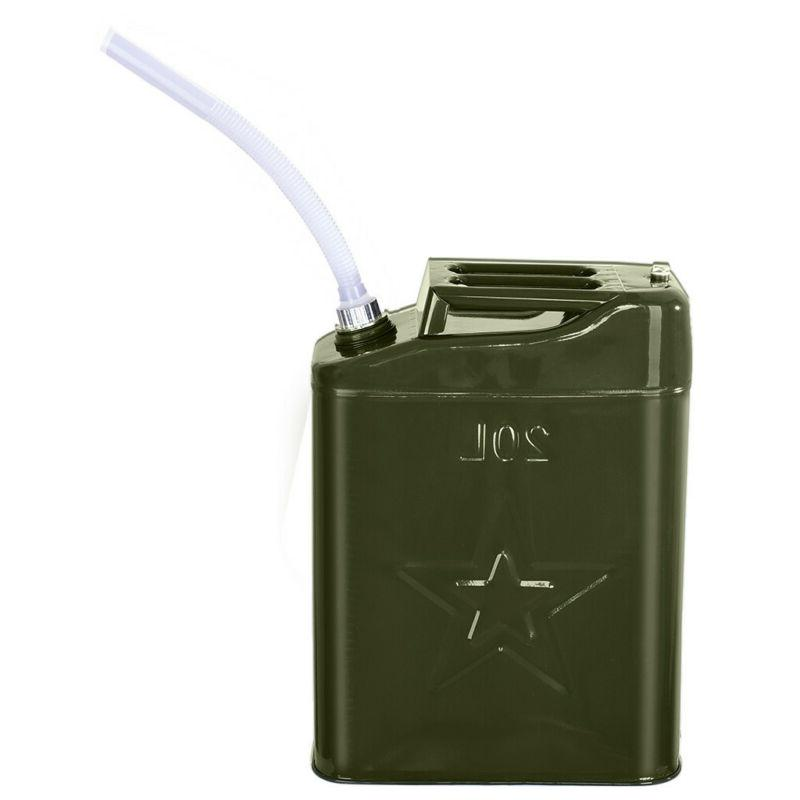 New Jerry Can 20L Liter Steel Tank Fuel Gas