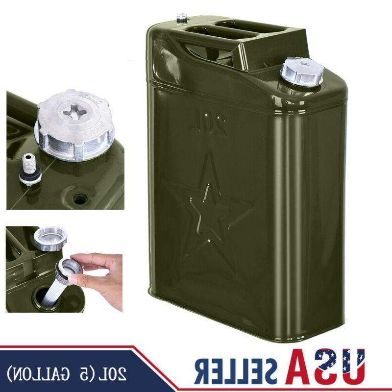 Jerry Can 20L Liter  Backup Steel Tank F-uel Gas Gasoline US