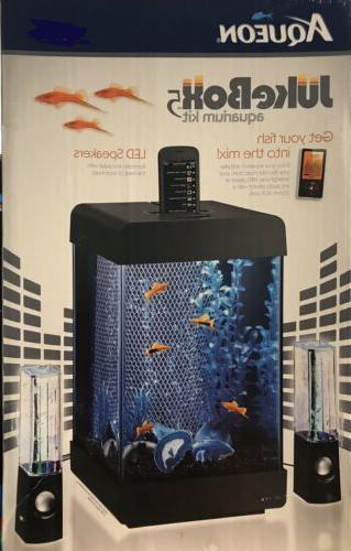 juke box 5 aquarium kit led speakers