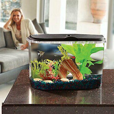 PanaView 5-Gallon Aquarium Kit - Power Filter - LED Lighting