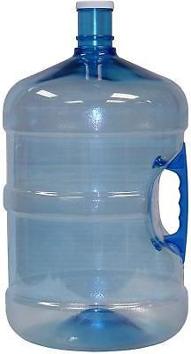American Made Large 5 Gallon Blue Water Bottle Jug With Hand