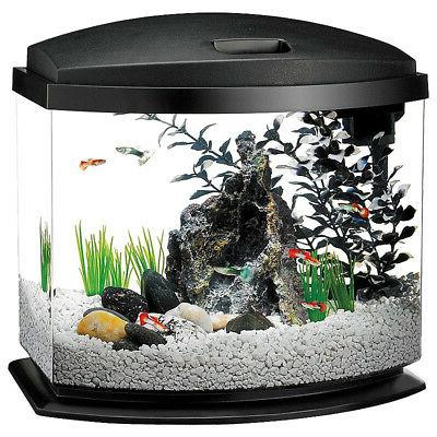 led minibow desktop aquarium kit black