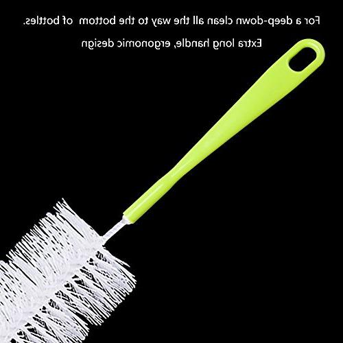 """LiKee Long Brush 18"""" x 2.17"""" Extra Wide Cleaner for Thermos, Brush Washer"""