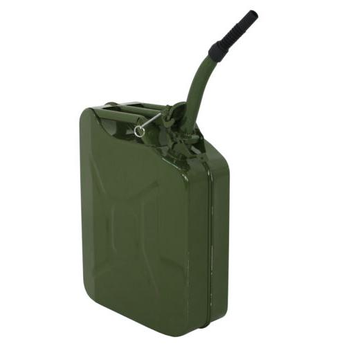 Jerry Can Backup Steel Fuel Gas Gasoline Green