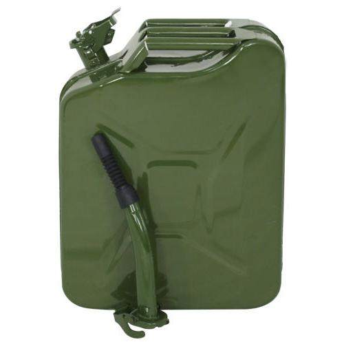 4x Jerry Can 5 Gallon 20L Gas Fuel Steel Tank Emergency Back