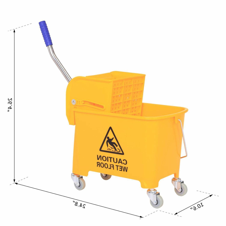 HomCom Mop Bucket with on Wheels