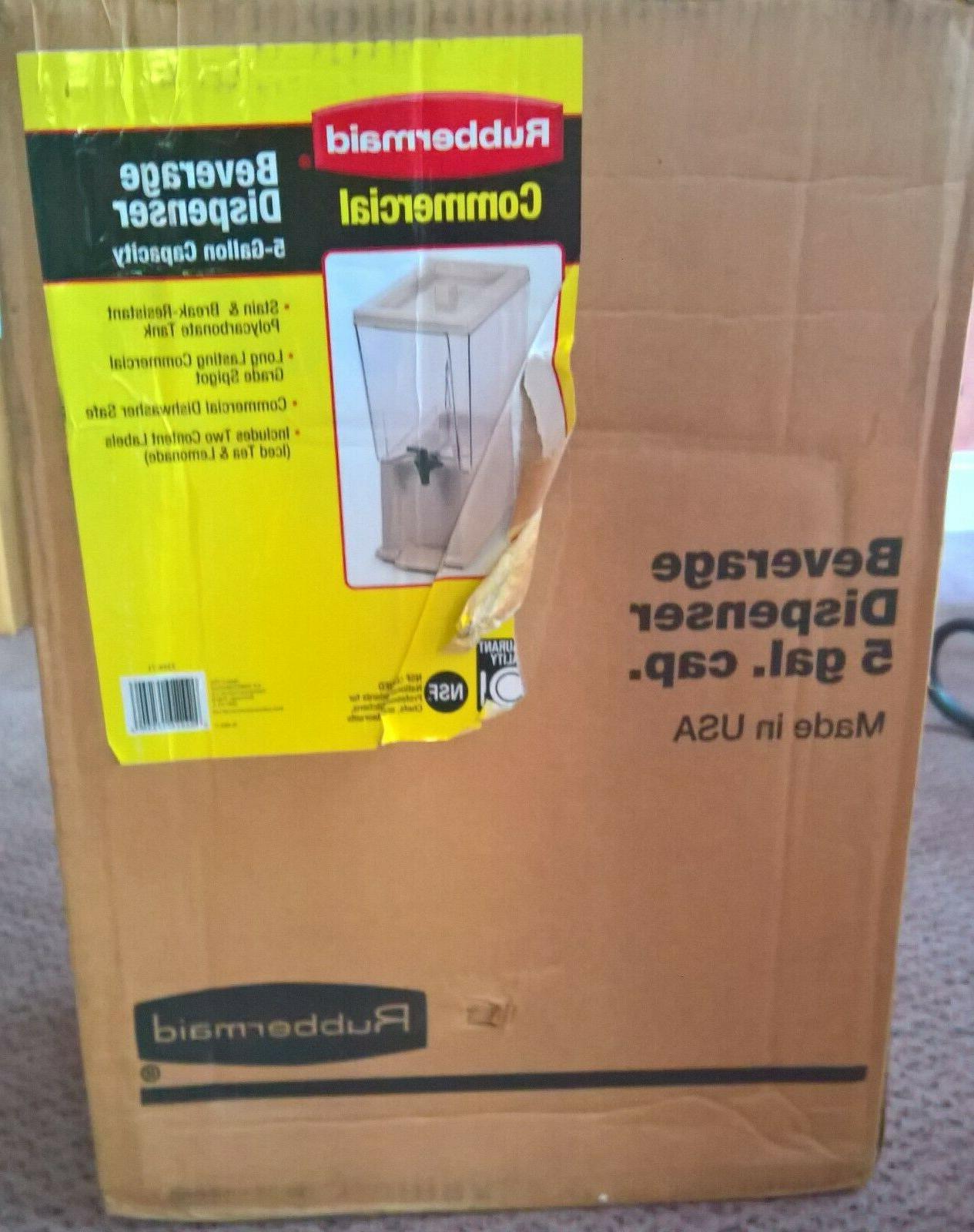 NEW 5 Gallon Commercial Polypropylene Dispenser Made in