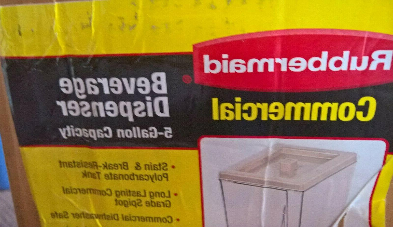 NEW 5 Rubbermaid Commercial Polypropylene Beverage Made in